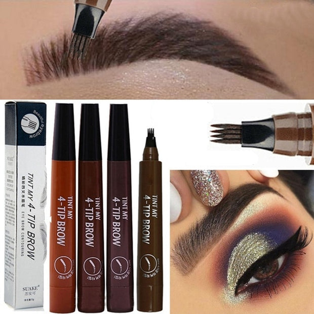 24 HOURS The Best Eyebrow Tattoo Pen Waterproof Microblading Eyebrow Tattoo Tint Henna Eyebrow Gel Makeup Tools