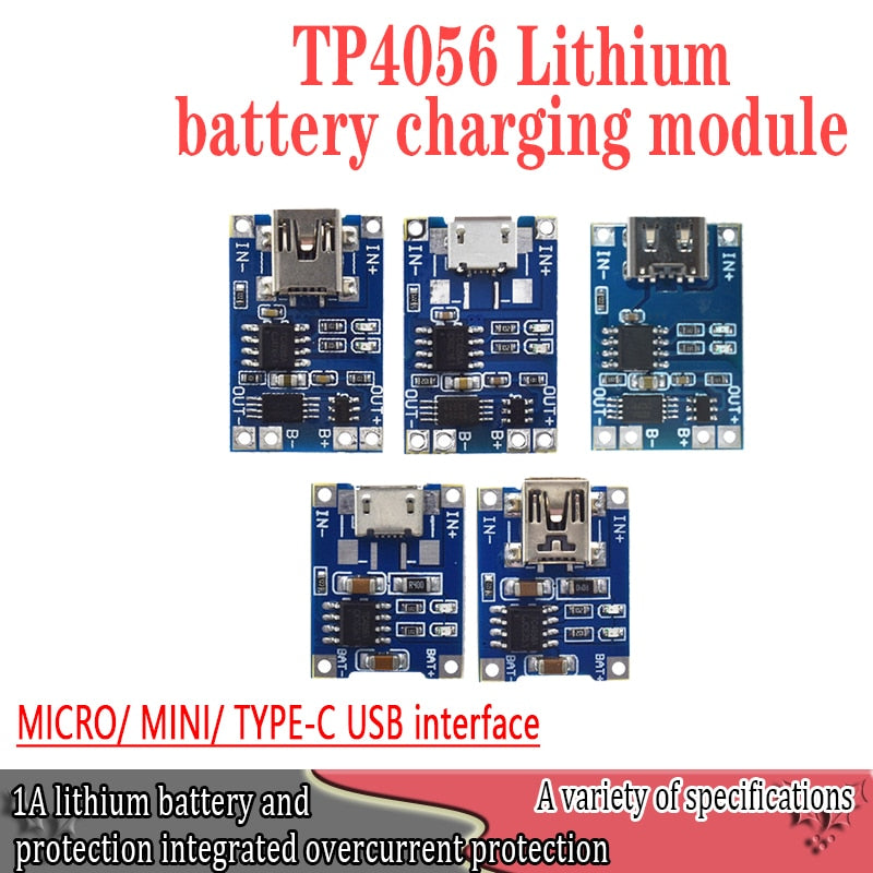 Super Smart Electronics 5V type-c Micro USB 1A 18650 Lithium Battery Charging Board With Protection Charger Module for Arduino Diy Kit