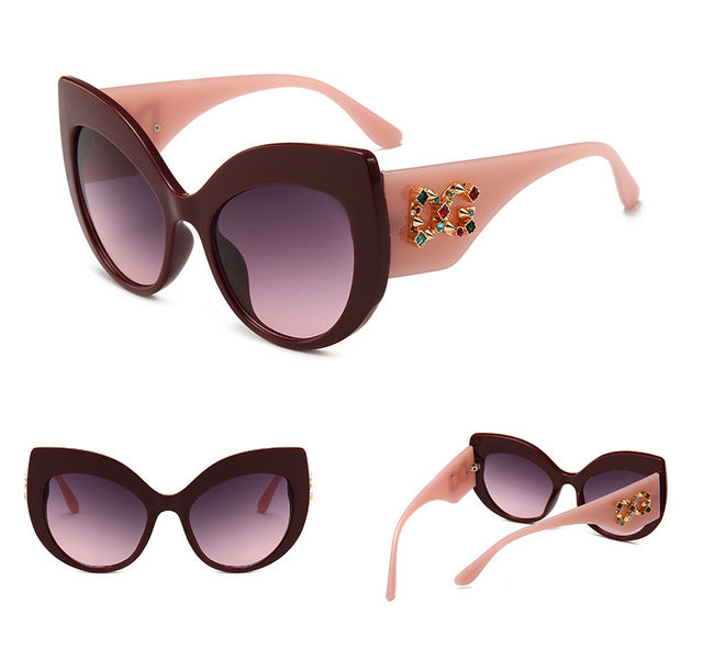 NEW YORK  2019 New Vintage Brand Design Ladies Cat Eye Sunglasses Women Diamond Frame  Luxury Sun Glasses For Female