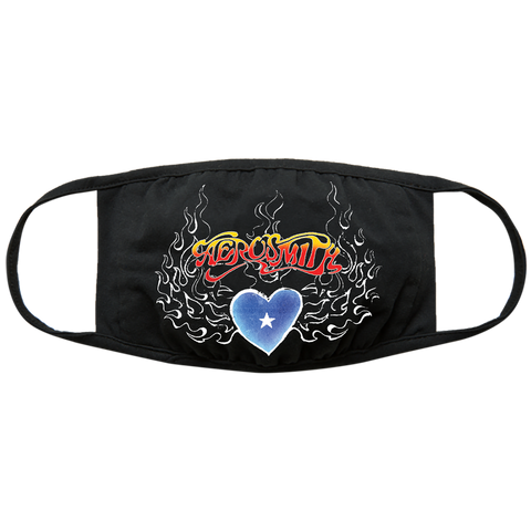 Aerosmith Vintage Flame Logo Face Mask