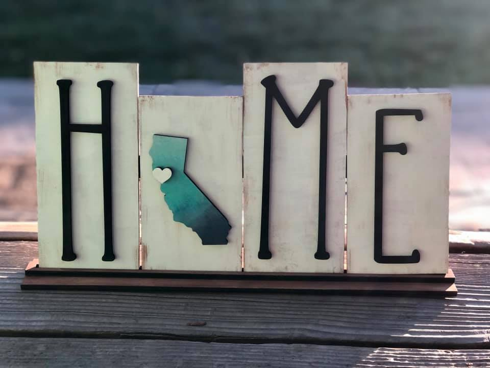 3D Stand Up Home Sign with Interchangeable Tiles - DIY Kit