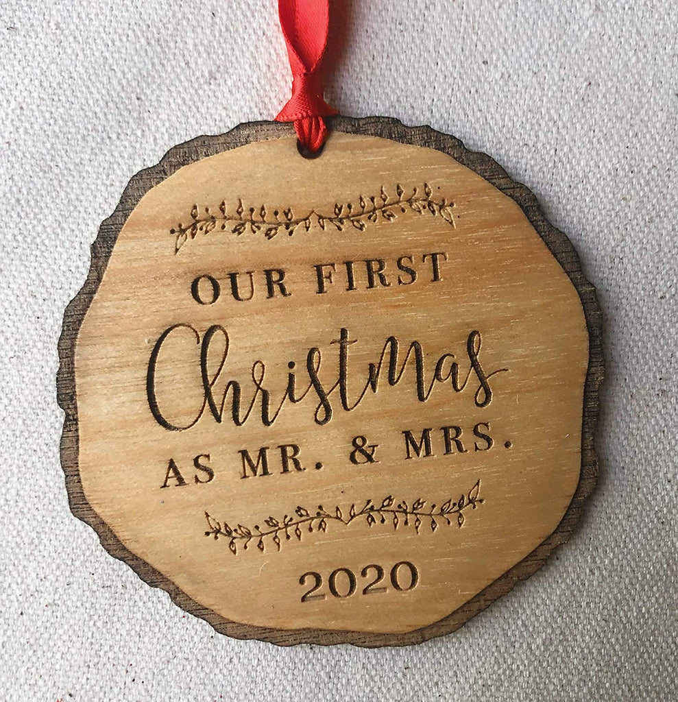 Our First Christmas as Mr. & Mrs. Ornament 2020