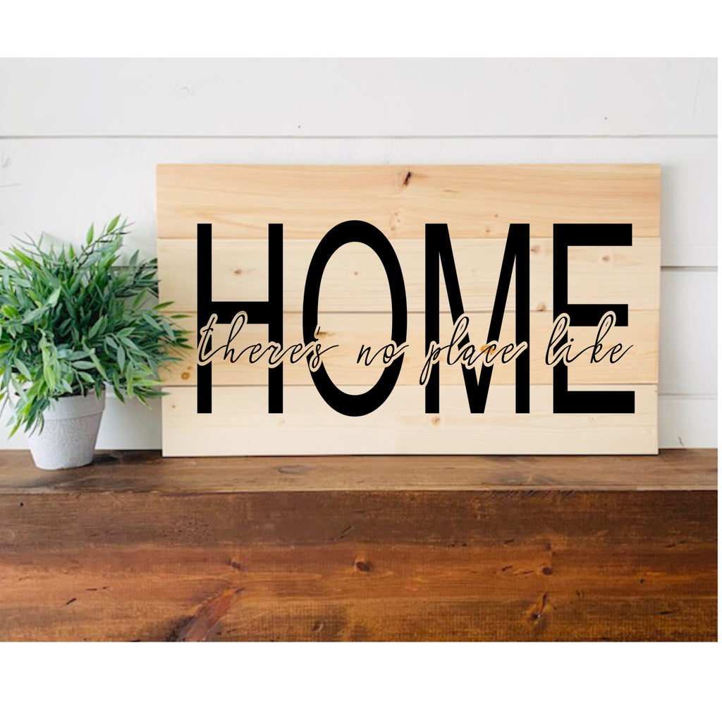 There's No Place Like Home 3D Sign - Modern Farmhouse Style DIY Paint Your Own Kit