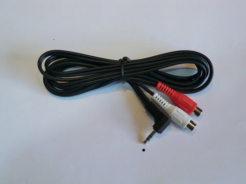 Lead 2x RCA phono sockets to 3.5mm stereo plug.
