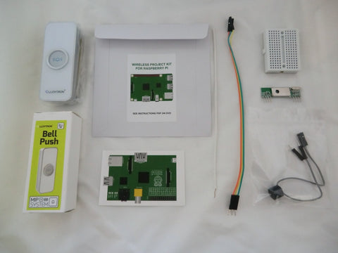 Wireless Internet WiFi Doorbell Project Kit for Raspberry Pi. Emails photos of callers to your mobile phone.