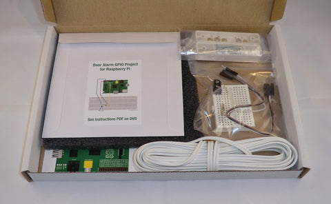 Door Alarm GPIO Project Kit for Raspberry Pi. Emails photos and alerts to your mobile phone.