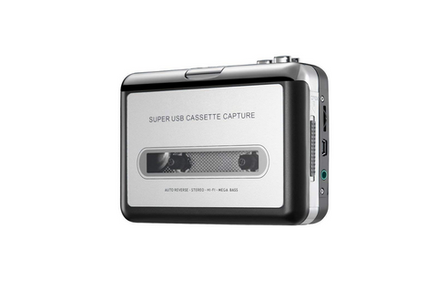 Tape-2-PC. Portable USB Tape Player for Windows 10, 8.1, 7. Transfer Audio Cassettes to PC.