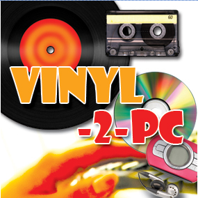 Vinyl-2-PC Kit. Record from Tape, Vinyl & MiniDisc to PC. For Windows 10, 8.1, 7, Vista and XP.
