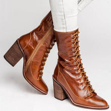 Load image into Gallery viewer, Chic Women Pointed Toe Chunky High Heels Boots