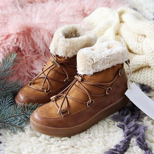 Warm Comfy Slip-on Snow Boots