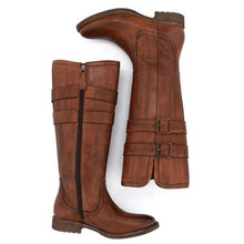 Load image into Gallery viewer, Women Vintage Buckle Riding Boots