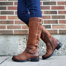 Load image into Gallery viewer, Chic Zipper Low-heel Riding Boots