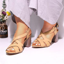 Load image into Gallery viewer, Women Chunky Heel Pumps Casual Sandals