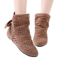 Load image into Gallery viewer, Women's Summer Boots Flat Low Hidden Wedges