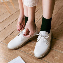 Load image into Gallery viewer, Casual Flats Round Toe Daily PU Breathable Shoes Lace Up Loafers