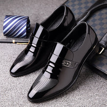 Load image into Gallery viewer, Men's business casual shoes low leather shoes
