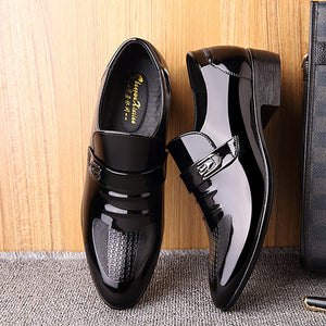 Men's business casual shoes low leather shoes