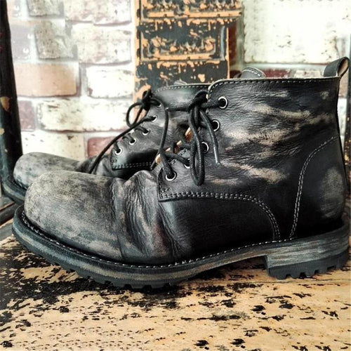 Men's Handmade Vintage Leather Ankle Men Boots