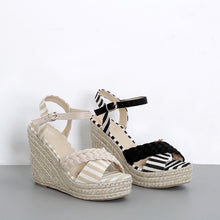 Load image into Gallery viewer, Summer New Wedge Sandals Woven High Heels