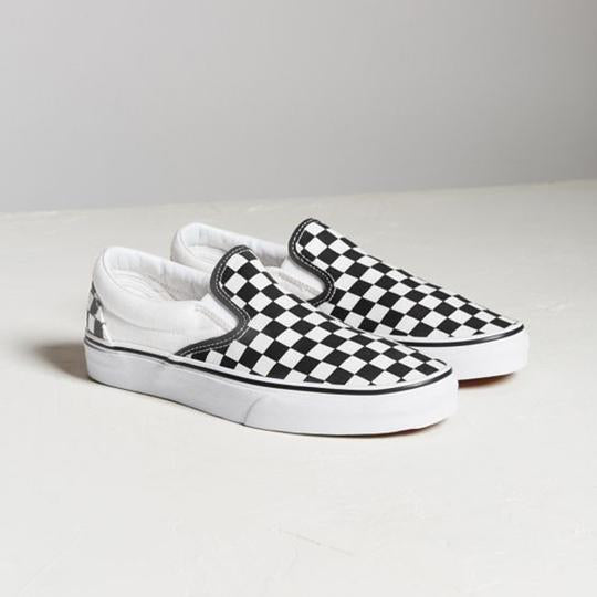 Large Size Canvas Casual Checkerboard Flats Loafers Slip-on