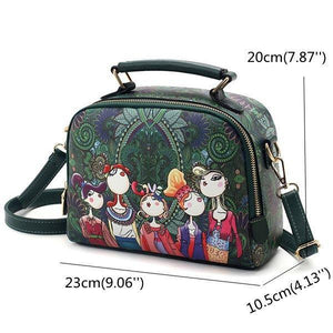 Women Bohemian Forest Series Crossbody Bag Flower Printed Handbag