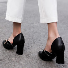 Load image into Gallery viewer, Summer Work Chunky Heel Round Toe Shoes