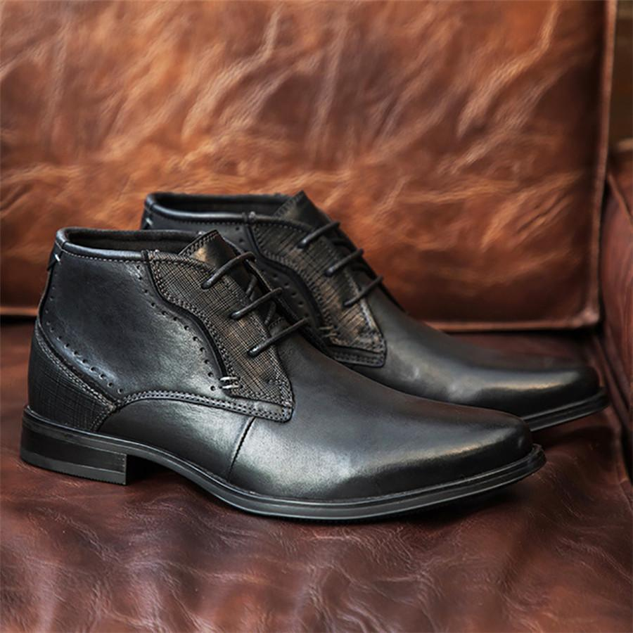 Men's British wind layer leather Martin Men Boots