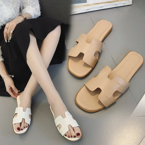 Slippers women's new sandals flat bottom sandals