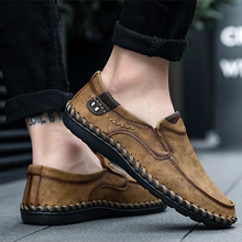 Load image into Gallery viewer, Split Leather Men's Loafers Shoes Breathable Driving Oxfords Shoes Flats Moccasins Shoes