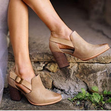 Load image into Gallery viewer, Women Casual Vintage Chunky Heel Booties Sandals Buckle Shoes