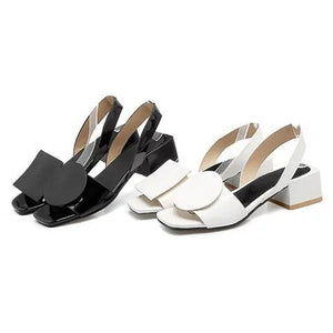 Chunky Heel PU Casual Summer Sandals