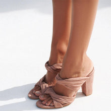Load image into Gallery viewer, Fashion Thick With High Heel Large Size Sandals