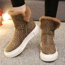 Load image into Gallery viewer, Women Printed Fashion Round Toe Flat Heel Boots