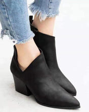 Load image into Gallery viewer, Side Zip Heeled Ankle Bootie