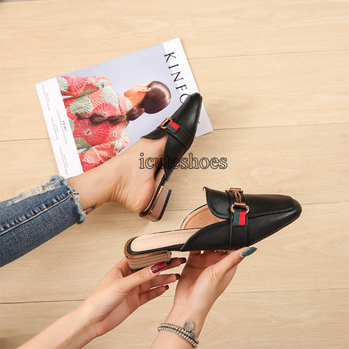 New Summer Single-shoe Women's Women's Shoes Cross-border Half Slippers Women's One-piece