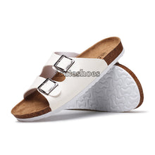 Load image into Gallery viewer, Beach Cork Slippers Sandals Casual Double Buckle Clogs Sandalias