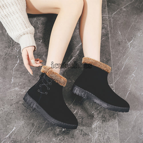 Shoes Woman Snow Boos Fmale Causal Velvet Fur Ankle Boots
