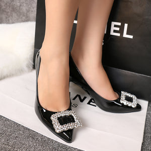 Pointy Shallow High-heeled Shoes Night Club Thin Women's Single Shoes Versatile Women's Shoes