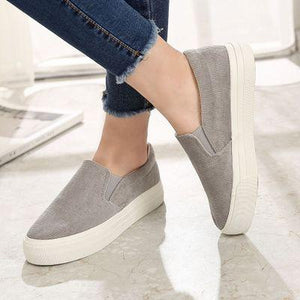 Women Corduroy Loafers Elastic Band Casual Slip on Non-slip Shoes