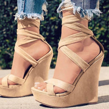Load image into Gallery viewer, Women High-heeled Casual Sexy Summer High Waterproof Platform Slope Shoes High Quality Sandals