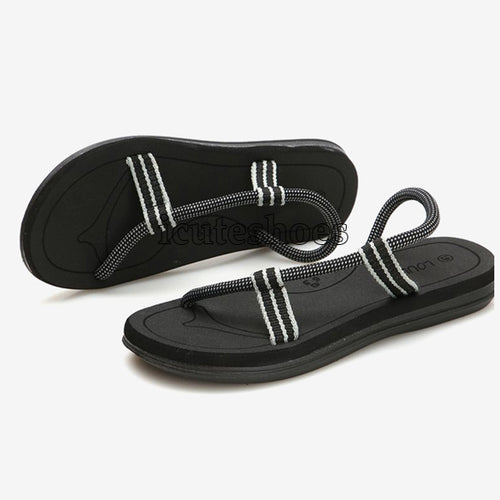 Gladiator Sandals for Male Summer Roman Beach Shoes Flip Flops Slip Flats