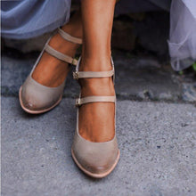 Load image into Gallery viewer, Women Casual Vintage Chunky Heel Buckle Sandals