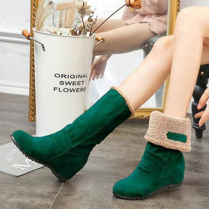 Women Snow Boots Warm Wedge Heel Boots