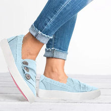 Load image into Gallery viewer, Women Casual Button Comfy Closed Toe Flat Heel Sneakers
