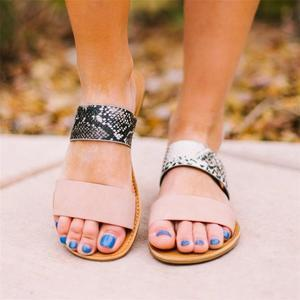 Solid/Sneak Print Band Mule Sandals
