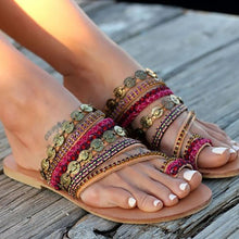 Load image into Gallery viewer, Fashion Bohemia Beach Flat Sandals