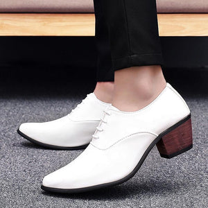 Fashion Plain Strappy Pointed Head Coarse Heel Shoes