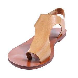 Women Plus Size Sandals Women Magic Tape Flat Heel Sandals