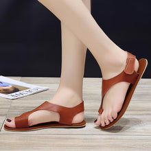 Load image into Gallery viewer, Women Plus Size Sandals Women Magic Tape Flat Heel Sandals
