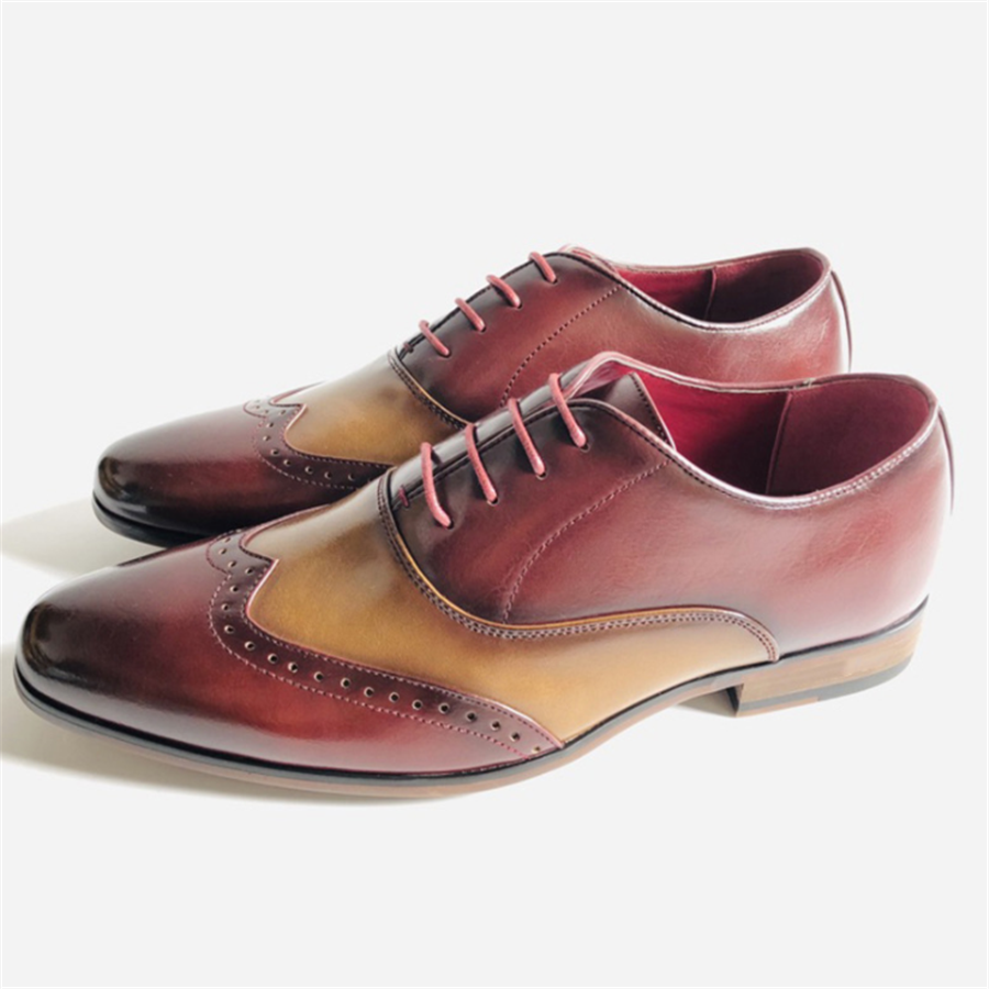 Men's Casual Color Matching Leather Shoes